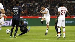 il gol di TOTTI, grande protagonista ieri a San Siro contro l'Inter