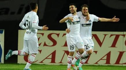 grande festa al terzo gol siglato nel bgi match contro il Bologna da parte di Lollo